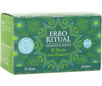 Erbo Ritual Gianluca Mech Infuso Bio Tè verde con Zenzero 20 filtri Tisanoreica