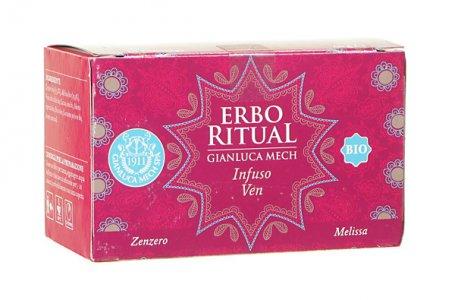 Erbo Ritual Gianluca Mech Infuso Ven Bio Melissa e Zenzero 20 filtri Tisanoreica