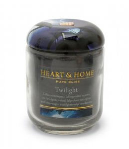 Candela di Soia Profumata - Twilight Barattolo Grande Heart & Home