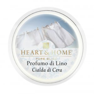 Candela di Soia Profumata - Profumo di lino Cialda Heart & Home