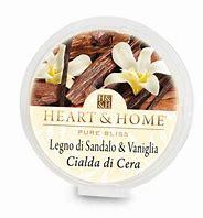 Candela di Soia Profumata - Legno di sandalo e vaniglia- Cialda Heart & Home