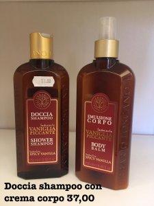 Set Doccia Shampoo con crema corpo Vaniglia piccante Erbario toscano