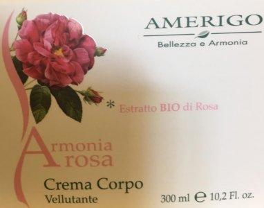 Crema Corpo Vellutante Armonia Rosa Amerigo
