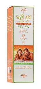Emulsione solare d'argan vegan spf 50