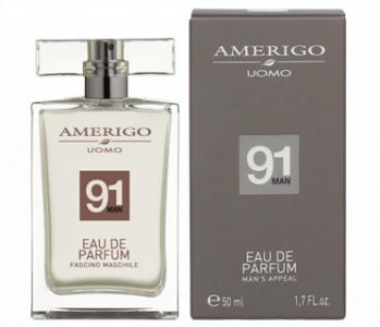 Eau de parfum profumo 91 man uomo Amerigo