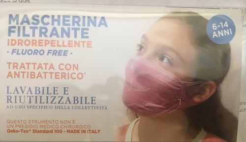 Mascherina filtrante idrorepellente bambina