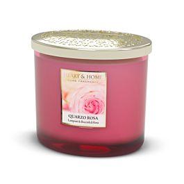 Quarzo rosa- candela a due stoppini