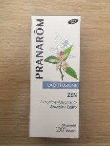 Sinergia di Oli essenziali ZEN per la diffusione Pranarom