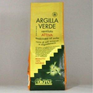 ARGILLA VERDE ventilata attiva 100% 500g Argital