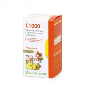 C 1000 60 cpr Rosa canina e Vitamina C Farmaderbe