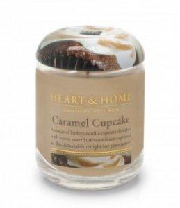 Candela di Soia al Profumata Cupcake al Caramello Barattolo Grande Heart & Home