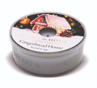 Candela di Soia Profumata - Casetta di Pan di Zenzero Candelina Scent Cup Heart & Home