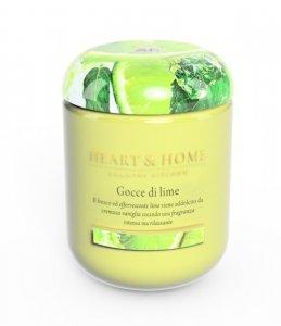 Candela di Soia Profumata - Gocce di lime Grande Heart & Home