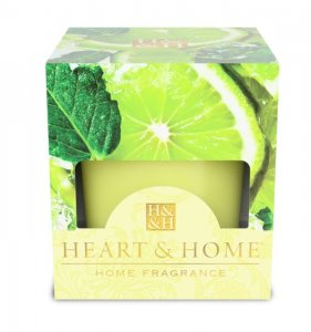 Candela di Soia Profumata - Gocce di lime Heart & Home