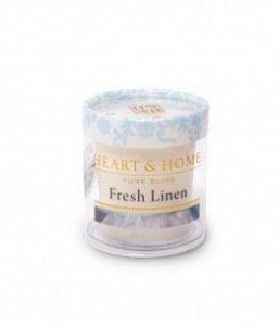 Candela di Soia Profumata - Profumo di Lino Heart & Home
