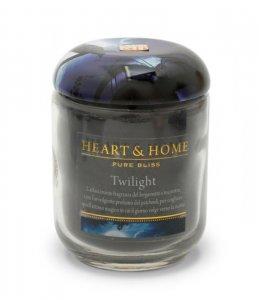 Candela di Soia Profumata - Twilight Barattolo Piccolo Heart & Home