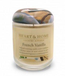 Candela di Soia Profumata - Vaniglia Francese Barattolo Grande Heart & Home