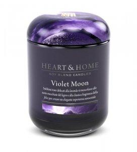Candela di Soia Profumata - Violet Moon Barattolo Grande Heart & Home