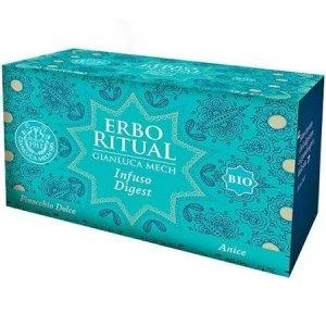 Erbo Ritual Gianluca Mech Infuso Digest Bio 20 Filtri Tisanoreica