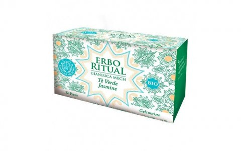 Erbo Ritual Gianluca Mech Tè Bio Verde Jasmine 20 filtri Tisanoreica