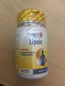 Lipoic 300mg Integratore di acido alfa-lipoico