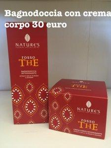 Set Bagno Doccia con crema Corpo Rosso The Nature's