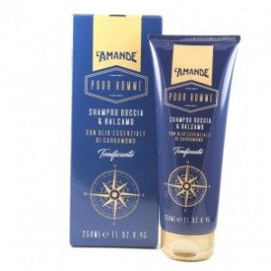 Shampoo Doccia & Balsamo Tonificante Uomo l'amande