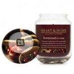 Candela di Soia Profumata - Bentornati a Casa Barattolo Piccolo Heart & Home